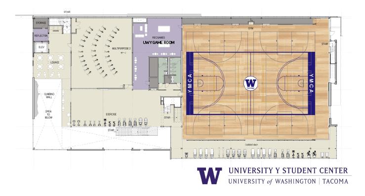Floor plan of second floor of UWY