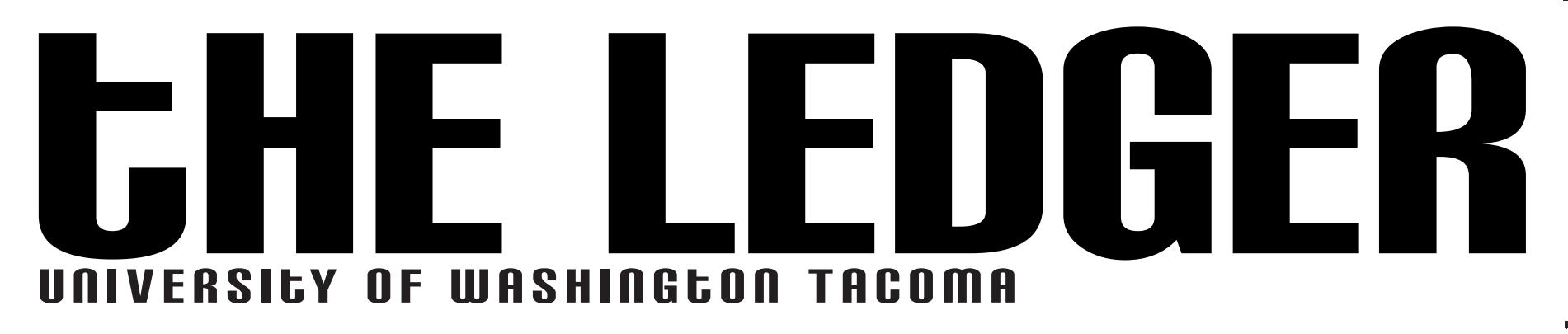 """Graphic image that says """"The Ledger"""" and """"University of Washington Tacoma"""""""