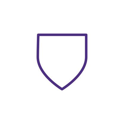Shield Icon Purple