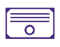 Certificate Icon Purple