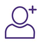Person Add Icon Purple