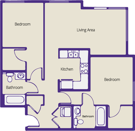 Floor plan image of space
