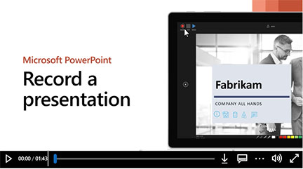 powerpoint video link