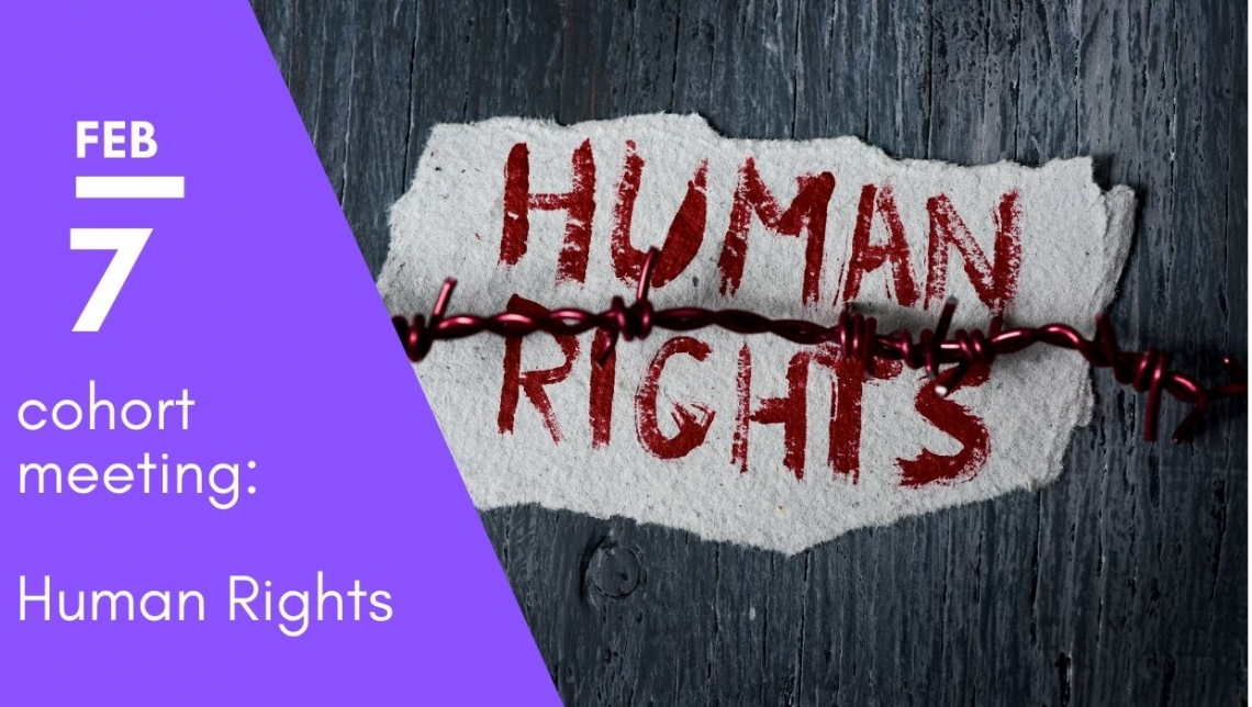 Flyer for human rights cohort meeting