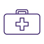 First Aid Kit Icon Purple