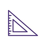 Triangle Ruler Icon Purple