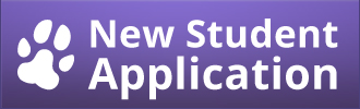 "Button with purple background that says ""New Student Application"""