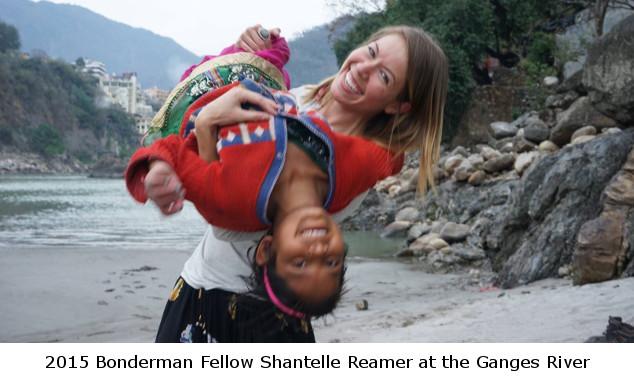 2015 Bonderman Fellow Shantelle Reamer at the Ganges River
