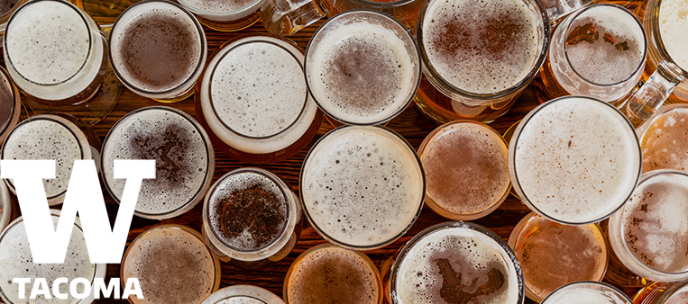 Multiple beers in glass