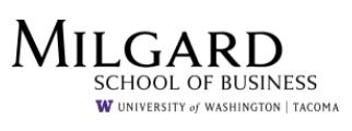 Milgard School of Business Logo UWT