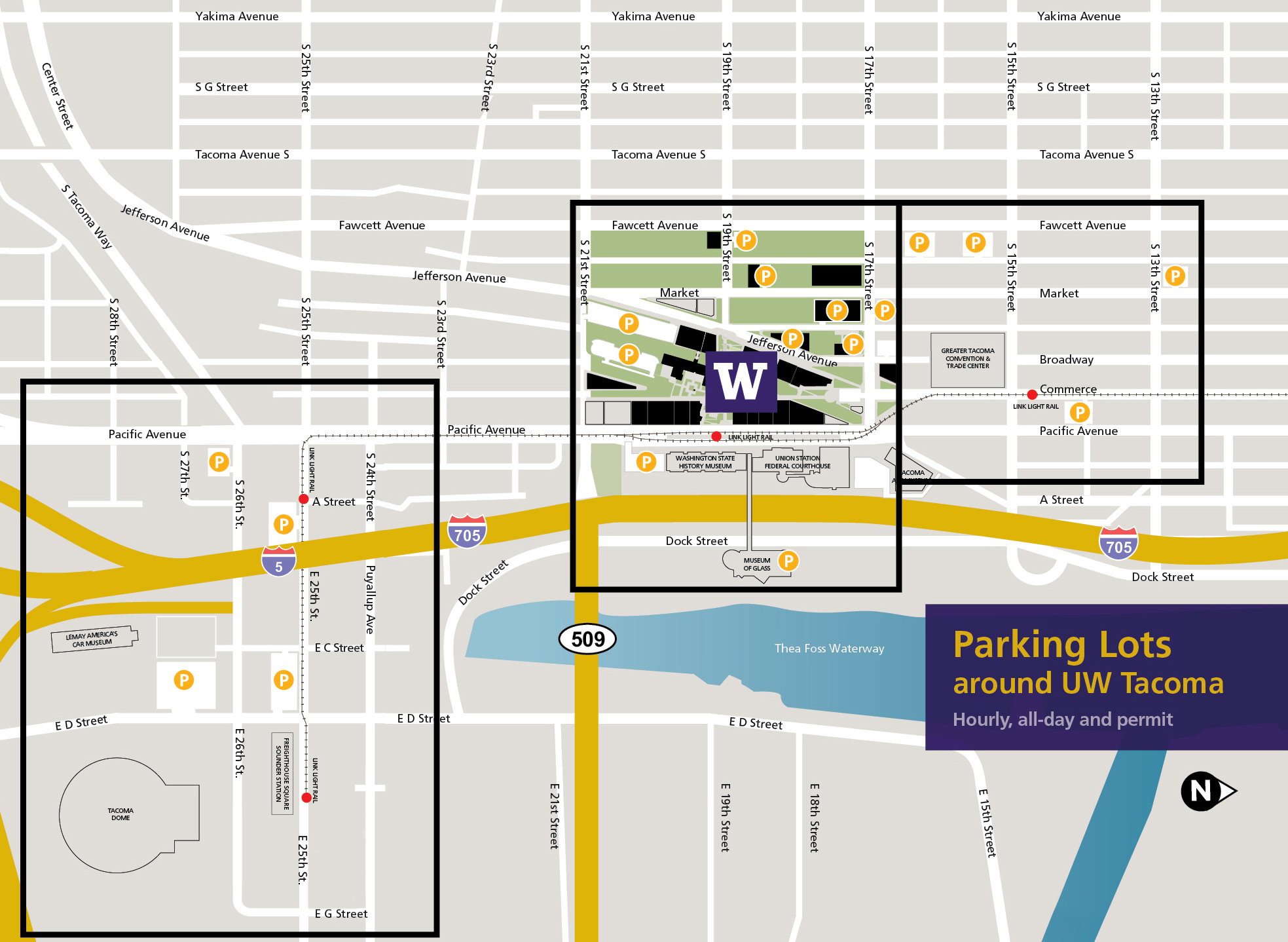 UWT Campus and Surrounding Area Parking