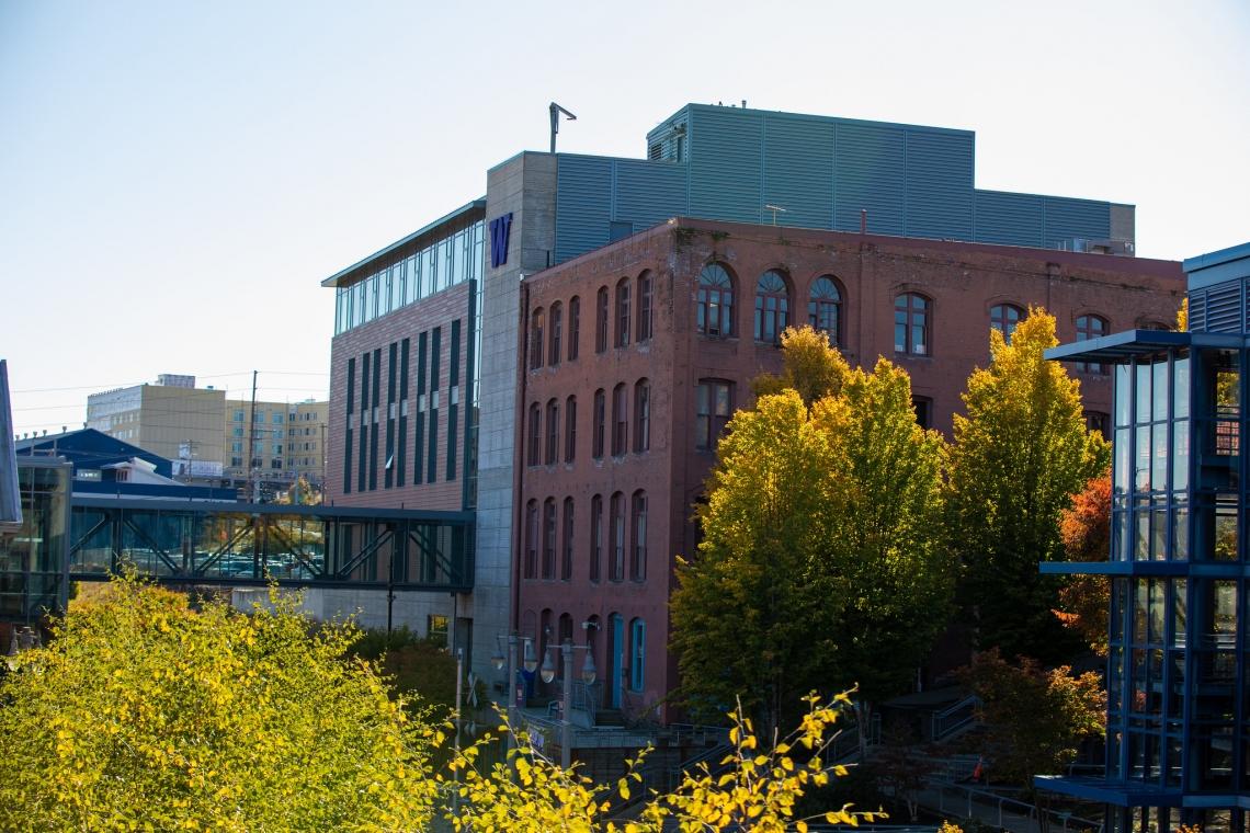 Milgard School of Business Campus in Fall