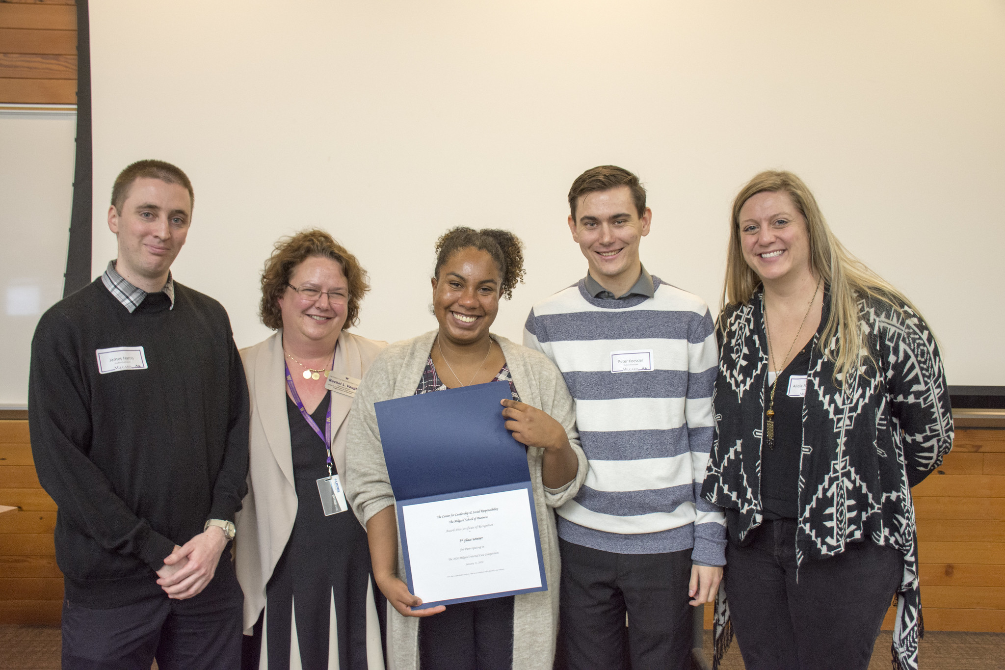 Here is a team awarded at a Case Competition.