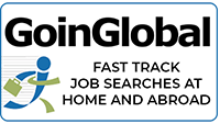 Logo that says Goin Global. Fast track job searches at home and abroad