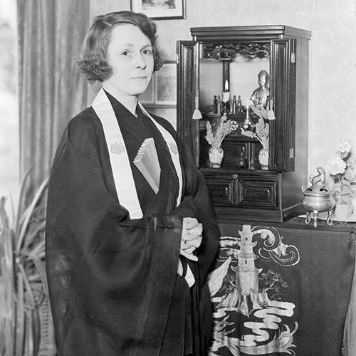 Sunya Pratt, Tacoma Buddhist Church, April 23, 1936 Courtesy Tacoma Public Library (80\8891)