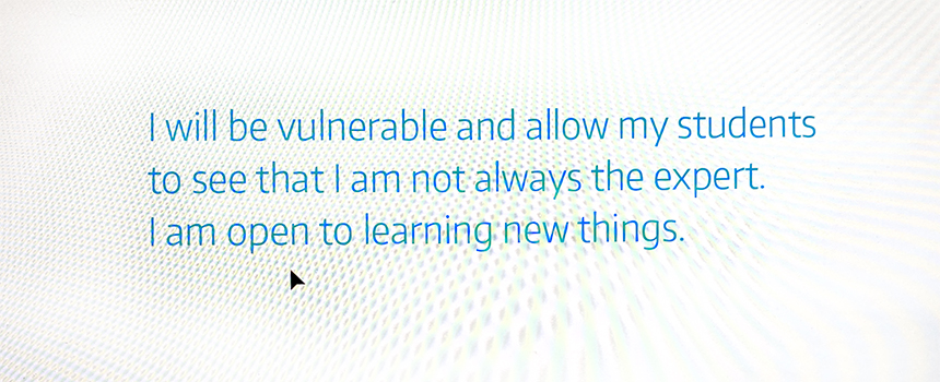 """""""I will be vulnerable and allow my students to see that I am not always the expert. I am open to learning new things."""" Dr. Jennifer Quinn, professor of mathematics, UW Tacoma."""