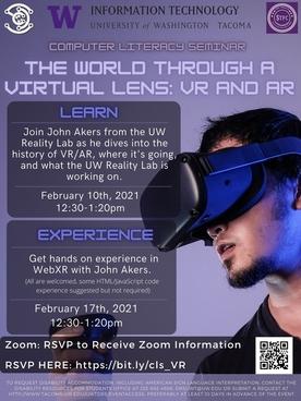 The World through a virtual lens Flyer