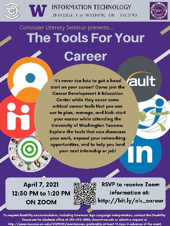 Technology tools for success seminar flyer