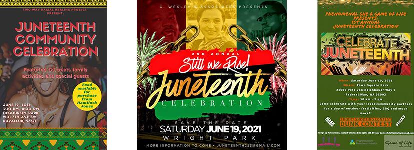 Juneteenth Community Celebrations - Puyallup, Tacoma, Federal Way