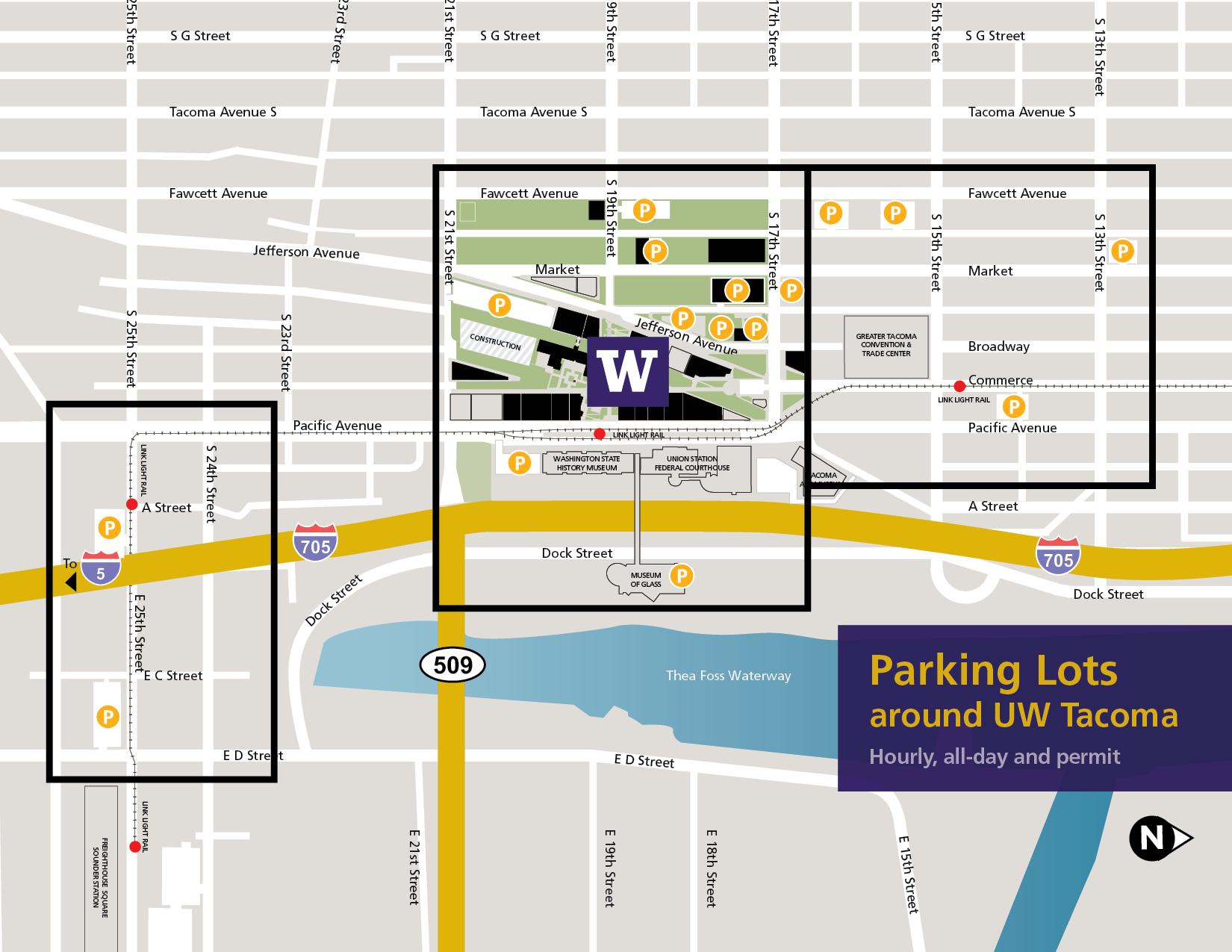 Full UWT Parking Map 2021