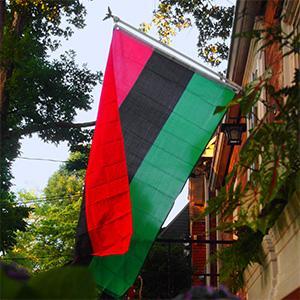 Pan African flag photo by Thomas Cizauskas