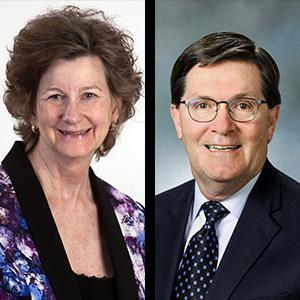 Dr. Vicky Carwein, former UW Tacoma Chancellor and William Andrews, retired engineer, Pacific Northwest National Labs
