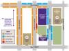 Image of parking options around the University Y student center