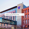 An image of the W on the Tioga Library Building - Lib2Go Curbside