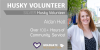 silver husky volunteer