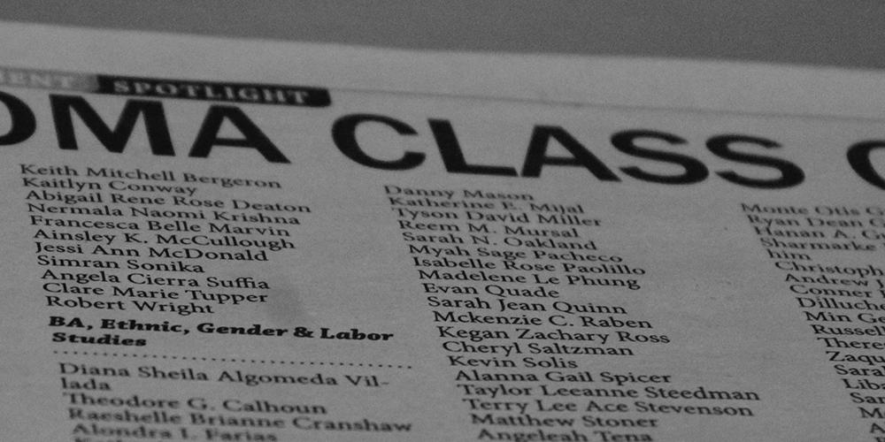 Photo of the Ledger graduation issue